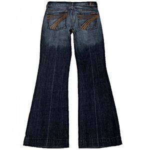 7 For All Mankind Dojo 27X31.5 Flare Cotton Jeans